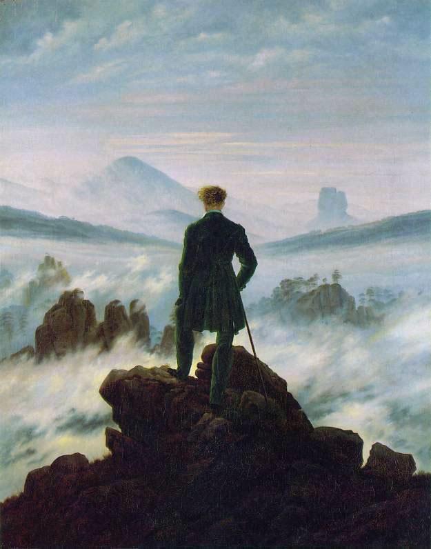 Caspar David Friedrich - Il viandante sul mare di nebbia - Hamburger Kunsthaal, Amburgo